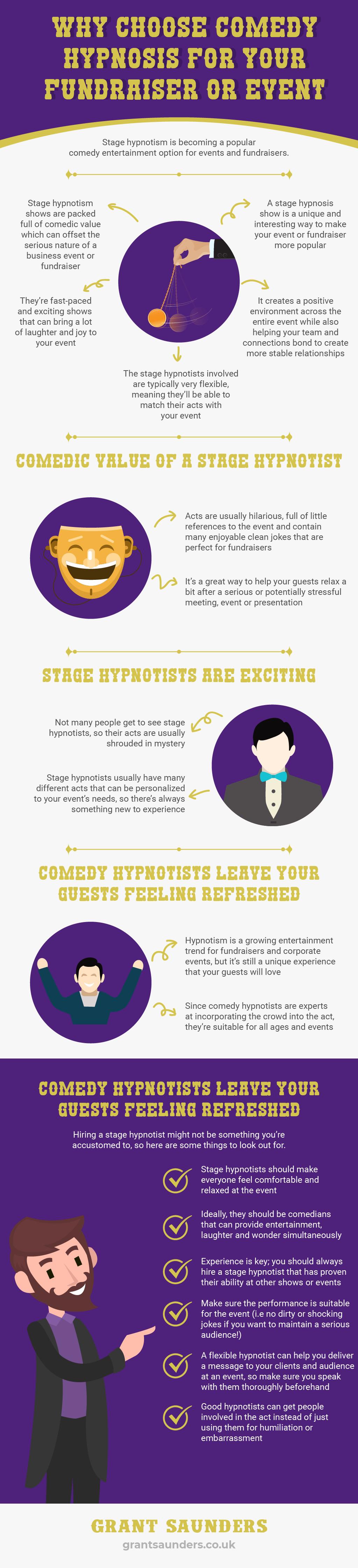 hypnotist fundraiser